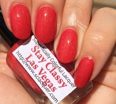 Stay Classy Las Vegas - a Cosmoprof 2015 exclusive. Swatch by Ehmkay Nails