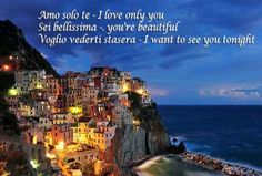 Manarola is a cute and colourful cliffside fishing town in the province of La Spezia in Ligura, Northern Italy. Italian Love Phrases, Italian Love Quotes, Italy Coast, High Resolution Wallpapers, Northern Italy, Culture, Cinque Terre, House Colors, Spanish