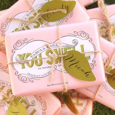 """Lol! Does this say """"you smell"""" on a bar of soap?"""