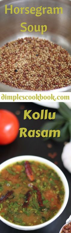 Horsegram (Kollu in Tamil / Ulava in Telugu) is a well known ingredient for weight loss. This soup is so comfort when you are down with cold and during winter season. Cookbook Recipes, Dessert Recipes, Cooking Recipes, Rasam Recipe, Indian Food Recipes, Ethnic Recipes, Mushroom Recipes, International Recipes, Winter Season