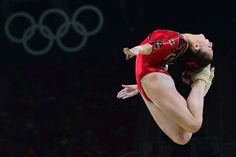 Germany's Pauline Schaefer competes in the qualifying for the women's balance beam event of the artistic gymnastics at the Olympic Arena during the Rio 2016 Olympic Games in Rio de Janeiro on Aug. 7, 2016.