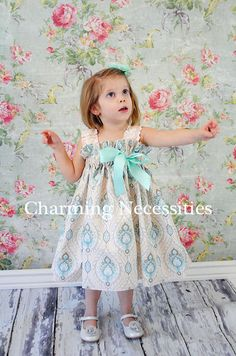SALE  Girls Easter Spring Sundress in Fit by CharmingNecessities, $37.95
