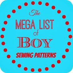 Beatnik Kids Mega List of Boy PDF Sewing Patterns Uncategorized boy sewing patterns boy patterns boy pattern list Sewing Hacks, Sewing Tutorials, Sewing Crafts, Sewing Projects, Sewing Tips, Sewing Ideas, Sewing Kids Clothes, Sewing For Kids, Love Sewing