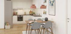 #ethjemfraskanska#petersborgkvartalet#kjøkken 3d, Table, Furniture, Home Decor, Modern, Room Decor, Home Interior Design, Desk, Tabletop