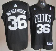 27754c51b87 Boston Celtics #36 Big Shamrock Black Fashion Jersey Throwback Nba Jerseys,  Soccer Jerseys,