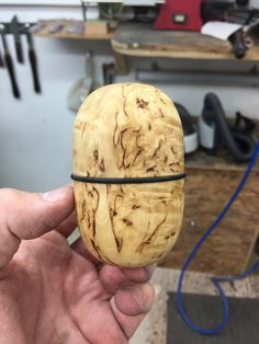 Masur birch & African Blackwood lidded box. Made by George Watkins