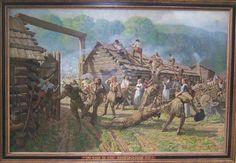 Simon Kenton gauntlet   Simon Kenton saves the life of his older friend Dan'L Boone 1777, Fort ...