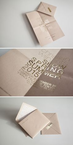 pink pastel modern wedding invitation design with gold wording - fashion week invitation inspiration