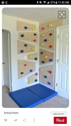 DIY playroom ideas and furniture - indoor climbing wall - easy play space storage, . DIY Playroom Ideas and Furniture – Indoor Climbing Wall – Easy Play Space Storage, Furniture Id Indoor Climbing Wall, Kids Climbing, Toddler Climbing Wall, Woodworking Projects, Diy Projects, Woodworking Lamp, Woodworking Beginner, Woodworking Garage, Woodworking Supplies