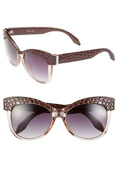 Fantas Eyes FE NY 'Croco' 55mm Cat Eye Sunglasses available at #Nordstrom