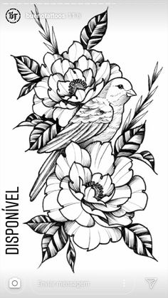 Pin by Codie Schmitz on Tattoos Floral Tattoo Design, Flower Tattoo Designs, Flower Tattoos, All Tattoos, Sleeve Tattoos, Clock Tattoos, Tatoos, Bird Drawings, Tattoo Drawings