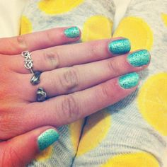 Like the nails. Love the bicycle ring.