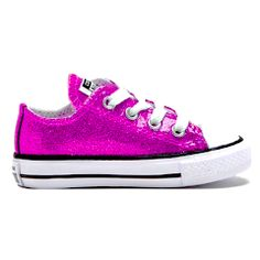 Purple bling Converse with purple laces by Munchkenzz on