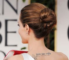 Pin for Later: Endless Gorgeous Celebrity Wedding Hair Ideas Wedding Hairstyles: Updos But it had a pretty added point of interest in the back, where it was looped over itself.