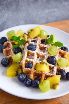 Food Photo, Waffles, Strong, Vegan, Drinks, Breakfast, Fitness, Recipes, Drinking