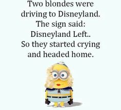 Two blondes driving to disneyland
