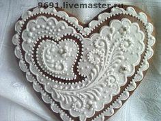 "Culinary handmade souvenirs.  Fair Masters - handmade gingerbread ""Gift hearts.""  Handmade."