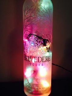 Large size Belvedere Vodka plug in light up liquor bottle