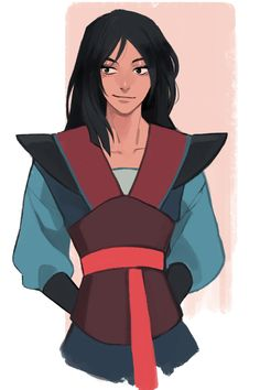 Genderbent Mulan - except this defeats the whole point of the movie... :/