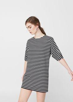 Striped dress -  Woman   MANGO Singapore
