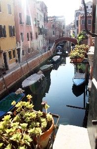 Possible place to stay in the heart of Venice : View of Canal San Andrea and window on the right corner of sitting room