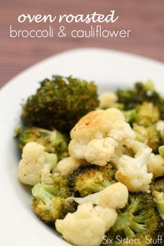 My whole family loved this Oven Roasted Broccoli and Cauliflower from SixSistersStuff.com! #sixsistersstuff