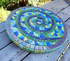 Joooles Design Mosaic Adventures: Hearts and Spiralslazy susan spiral mosaic - would look cool when it spins!Spiral Mosaic I& still keeping up with my goal of one new mosaic a week. Although I wonder if I& jumping the gun by saying I finished. Mosaic Tray, Mosaic Glass, Mosaic Tiles, Mosaics, Stained Glass, Mosaic Mirrors, Mosaic Wall, Mosaic Rocks, Mosaic Stepping Stones