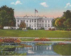 White House Washington DC Old Postcard Souvenir - Early 1900s DC Memorabilia South Front View of the White House