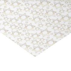 White Gold Star Of David - Tissue Paper