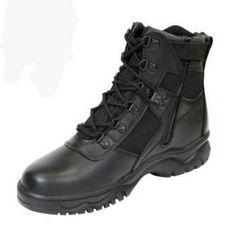 Black - Military Blood Pathogen Size Zipper Tactical Boots 6 in. 7b027c2ee2c
