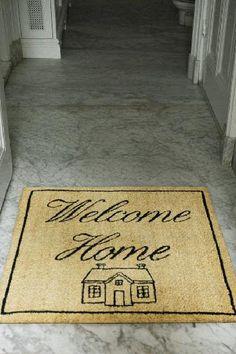 Love this door mat from Riviera Maison