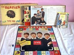 Released by Milton Bradley in 1964 The Beatles, Flip Your Wig game, was a board game where you were one of the four Beatles and the object was to collect the four corresponding cards for the Beatle you were playing, John, Paul, George or Ringo