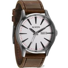 Mens Nixon The Sentry Leather Watch A105-2113