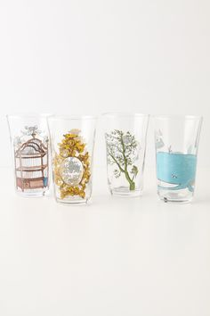 Menagerie Juice Glass - by molly hatch $12 each Anthropologie.com