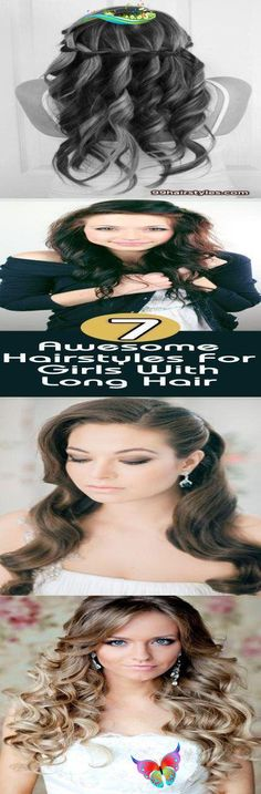 wedding hairstyle for long hair - 99 Hairstyles Ideas 7 Awesome Hairstyles For G... Pixie Wedding Hair, Half Up Wedding Hair, Curly Wedding Hair, Long Hair Wedding Styles, Elegant Wedding Hair, Wedding Hairstyles For Long Hair, Cool Hairstyles, Long Hair Styles, Braids For Short Hair