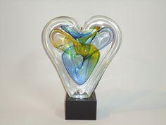 Mini-urn hart - gedenkobject in glas ( ongeboren ) kind