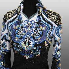 """""""Iris"""" jacket Custom made for Lindsay Melvin Western Show Shirts, Western Show Clothes, Horse Show Clothes, Riding Clothes, Cowboy Outfits, Western Outfits, Western Wear, Showmanship Jacket, Show Jackets"""