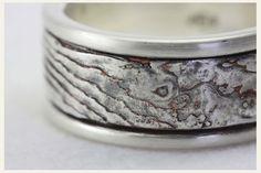 ♥ Mokume-Gane Ring - Silber, schwarz & braun ♥ von Rein Gold Perle - Katharina Baumann auf DaWanda.com