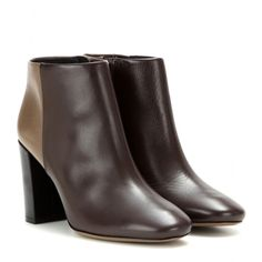 Tory Burch - Bowie leather ankle boots - Tory Burch's two-tone brown boots have a streamlined look and soft leather sheen. The sturdy block heel and round-shaped toe will suit both jean and skirt-based outfits. Perfect for fall and winter no matter the occasion. seen @ www.mytheresa.com