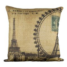 Day In Paris Pillow