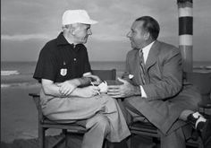 Frank Costello with his neighbour,newsman Walter Winchel.