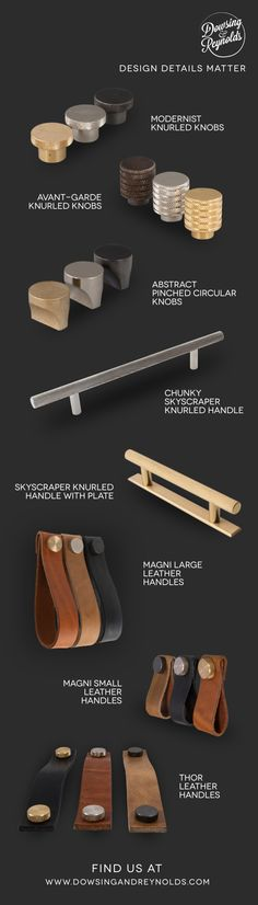 Our door handles & drawer knobs are perfect for giving your kitchen unit doors or drawers a makeover. They come in different shapes, sizes, and finishes. Drawer Knobs, Cabinet Handles, Door Handles, Kitchen Unit Doors, Leather Handle, Drawers, Hardware, Detail, Kitchens