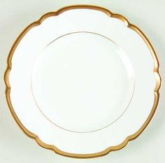 "Gold ""Colette"" china pattern with scalloped edges from Chas Field Haviland."
