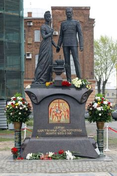 New monument of Nicholas and Alexandra unveiled in St. Petersburg, 12th May 2013
