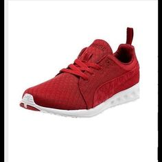 Puma Carson Runner MONO❤️ New/5.5/all red completely  Find listing on M type : Puma Women Carson Runner Mono Kimomy ✨ Puma Shoes Athletic Shoes