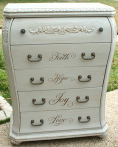 Love this painted dresser!!