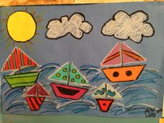 Preschooler Sail boat Art Project...