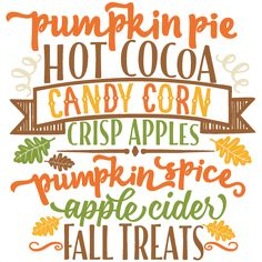 Freebie of the Day! Fall Treats Word Art Model/SKU: falltreatswordart091516