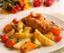 Filet z kurczaka w warzywach Cantaloupe, Meat, Chicken, Fruit, Food, Beef, Meal, The Fruit, Essen
