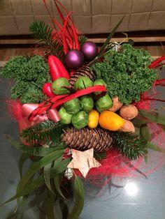 Ramo de mano con verduras.
